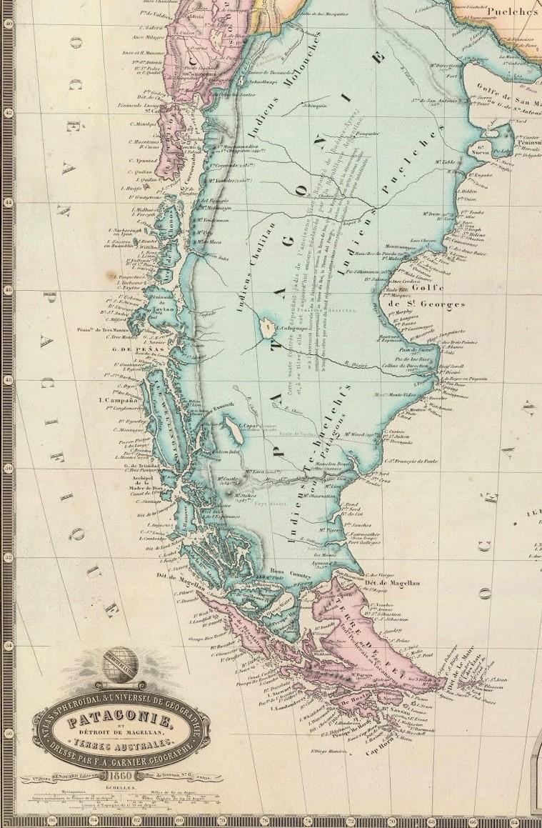 Carte Patagonie 1860